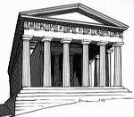 Greek Architecture Drawing temple of hephaestus - athens, greece - great buildings architecture