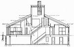 venturi_section.150 Vanna Venturi House Plan Section Elevation on fisher house elevation, vanna venturi interior, kaufmann house elevation, eames house elevation, vanna venturi sections dimensions, tugendhat house elevation,