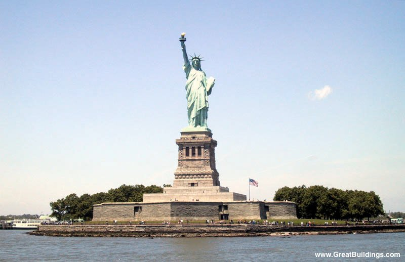 Statue Of Liberty Frederic Bartholdi Great Buildings Architecture