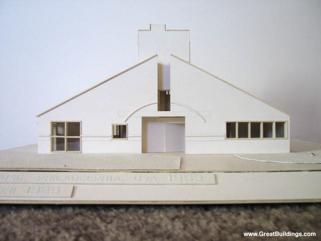 Amazing Photo, Front Facade Of Architectural Model