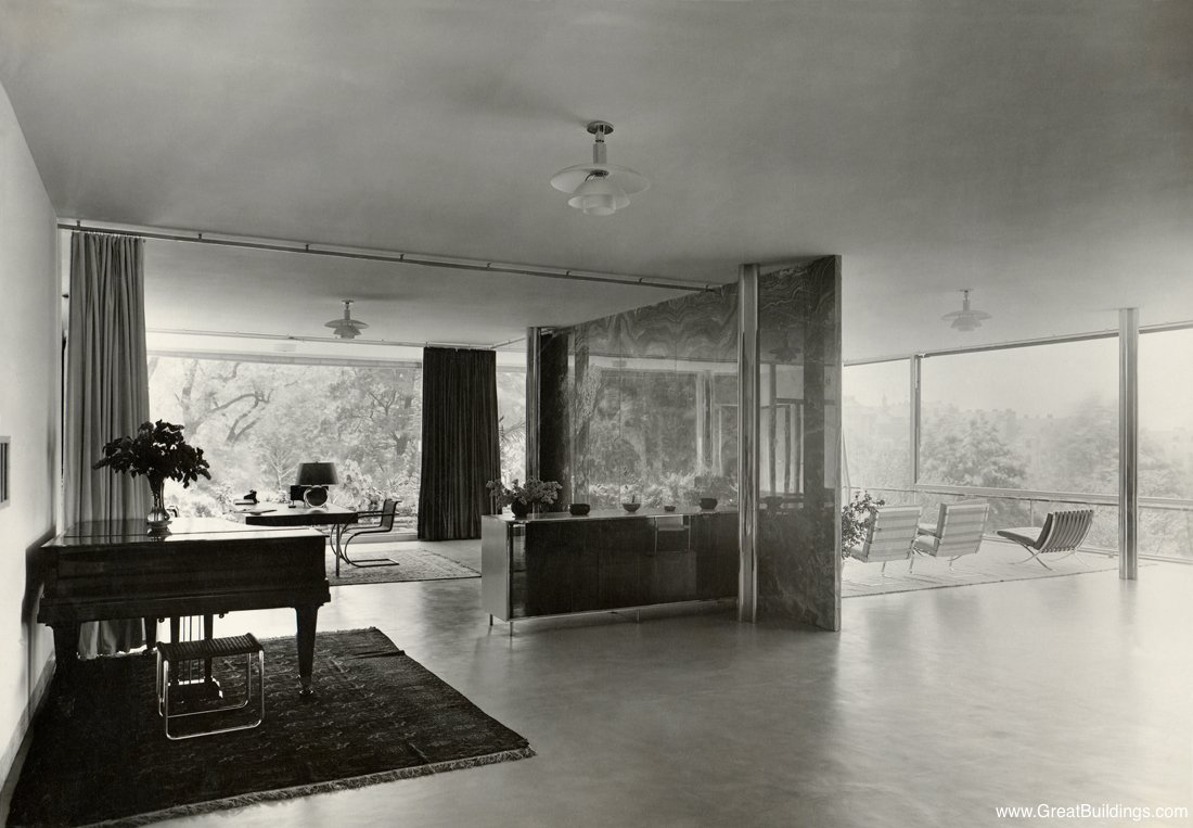 Mies Der Rohe Haus Tugendhat great buildings image tugendhat house