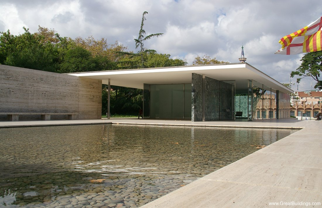 Barcelona Pavilion Ludwig Mies Van Der Rohe Great Buildings