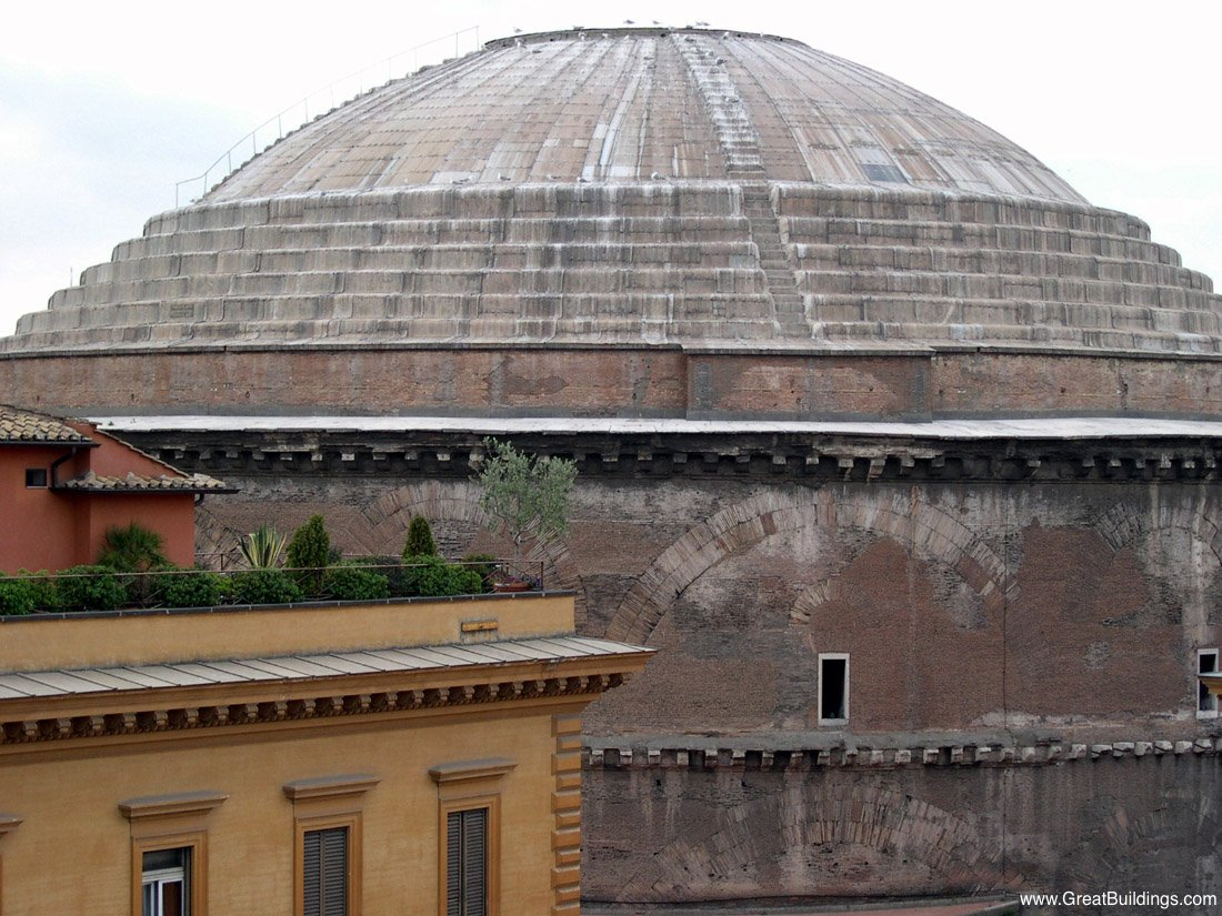 Italy Day 1: Coperto, the Pantheon, Trevi's Fountain, and ...   Pantheon Dome Exterior