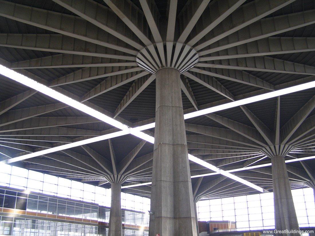 Palazzo del Lavoro - Pier Luigi Nervi - Great Buildings Architecture