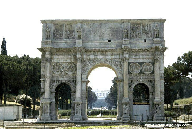 Great Architecture Buildings arch of constantine - rome, italy - great buildings architecture
