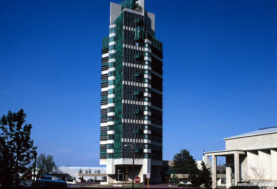 Great buildings image price tower for Frank lloyd wright bartlesville