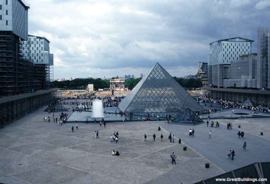 Great buildings image pyramide du louvre - Pyramide du louvre pei ...