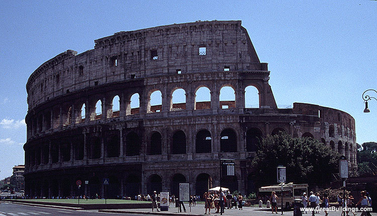 Roman Colosseum Rome Italy Great Buildings Architecture
