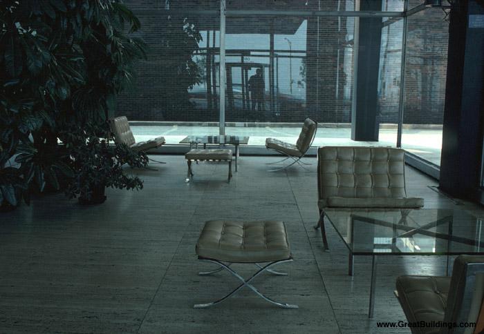 Lake Shore Drive Apartments - Rohe - Interior of lobby