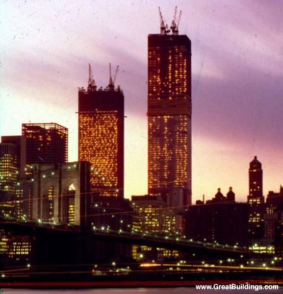 New York City Buildings Dusk